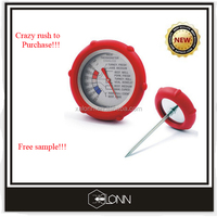 High quality instant read kitchen cooking food/ meat/ bbq/ coffee/ milk bimetal thermometer