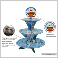 customized 3 tier cupcake cardboard display stand for retail
