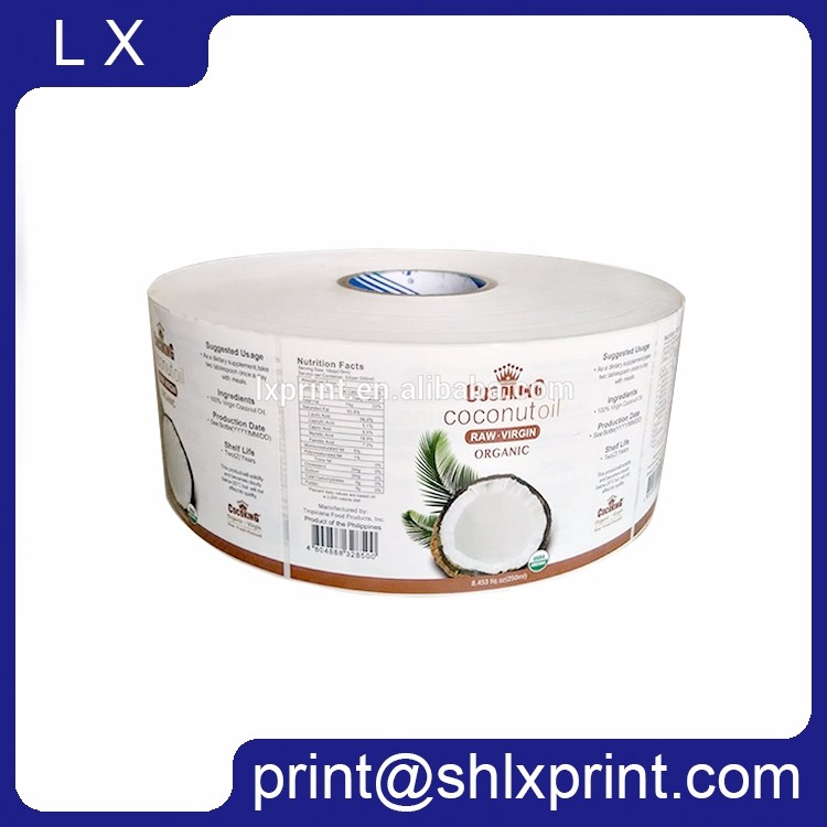 Customized Labels For Candle Jars Waterproof Sticker Roll