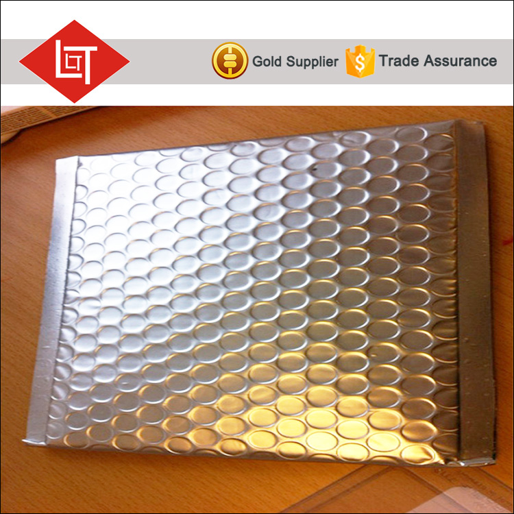 silver customized colorful aluminized bubble mailer