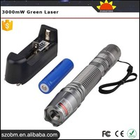 China Green Laser Pointer,Cheapest Green Laser Pointers For Sale,Flashlight Style 3000mW Green Laser