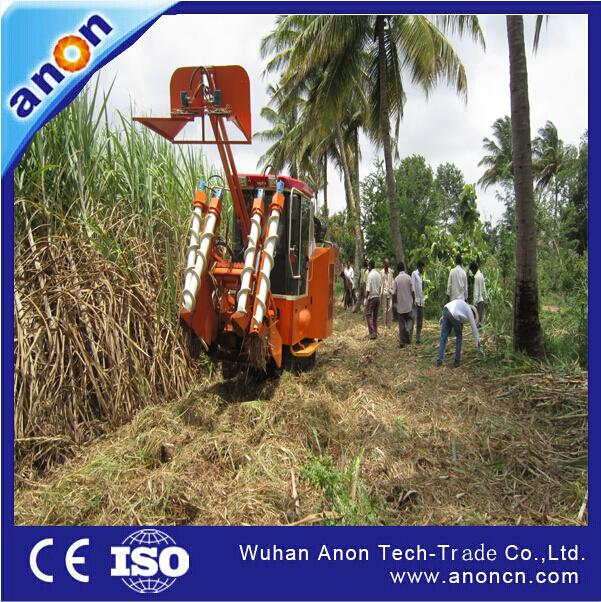 ANON CE Approved sugarcane cutting machine video