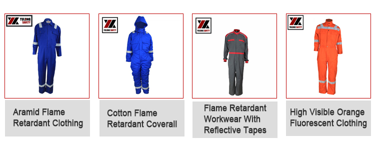 Factory Supplier Wholesale 100% Cotton Arc Flash Protective Flame Retardant Coverall