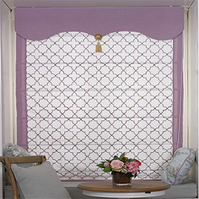 Purple Ruyi jacquard modern American style Chinese style living room lifting curtain custom Rome curtain