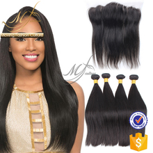 Aofa hair company remy peruvian straight hair with clossure