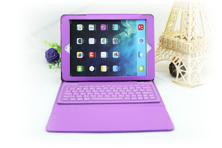 cheap 5 colors Detachable Wireless Bluetooth Keyboard Protective PU leather Stand Case Cover For ipad Air 2/ipad 6