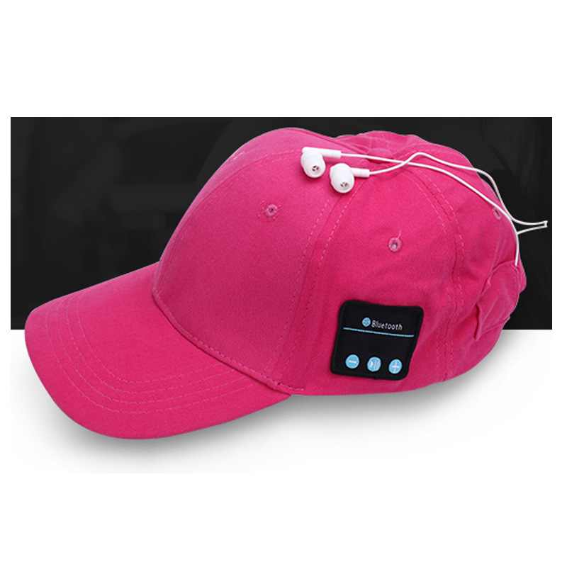 Factory Supply summer outdoor Plain Music Wireless Smart Headphone Baseball Cotton call stereo <strong>Cap</strong>