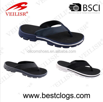 Hot Selling Fashionable Summer men's sandal, Flip Flops Clips Wedge Sandals Soft Male Casual Flat Slippers