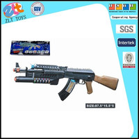 2015 gun toys WOOD ELECTRIC GUN with light and sound