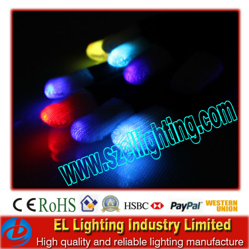 led finger light gloves/led flashing gloves