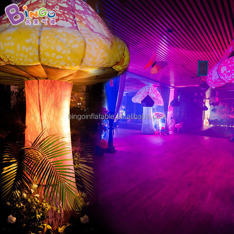 event led lighting large inflatable mushroom balloons for night club