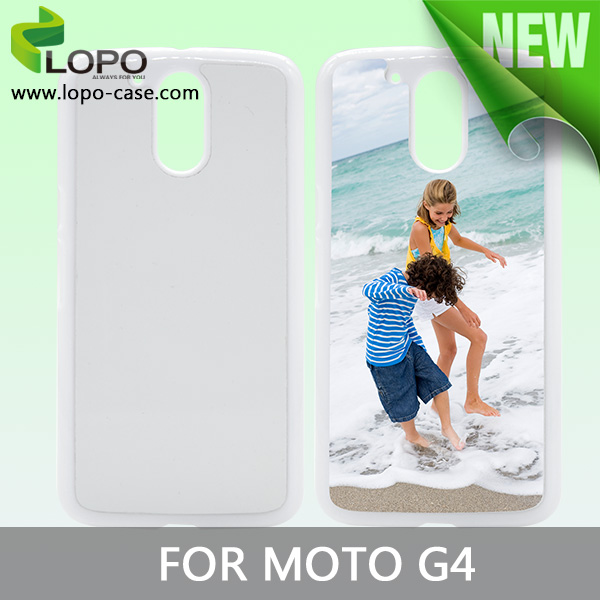 2016 new model 2d hard plastic case sublimation phone cover for Moto G4 G4