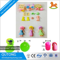 new styles hot selling assembled girl for surprise egg toy/ puzzle girl suprise egg toy