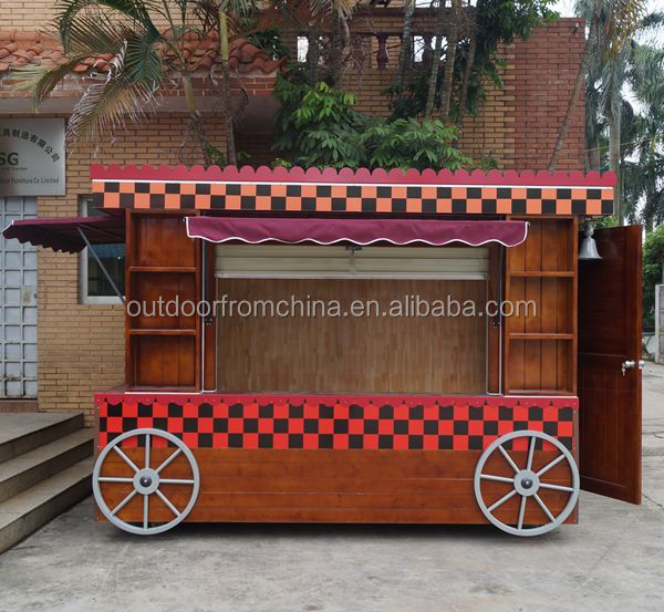 Antique looking mobile coffee shop/ coffee kiosk/ coffee vending cart