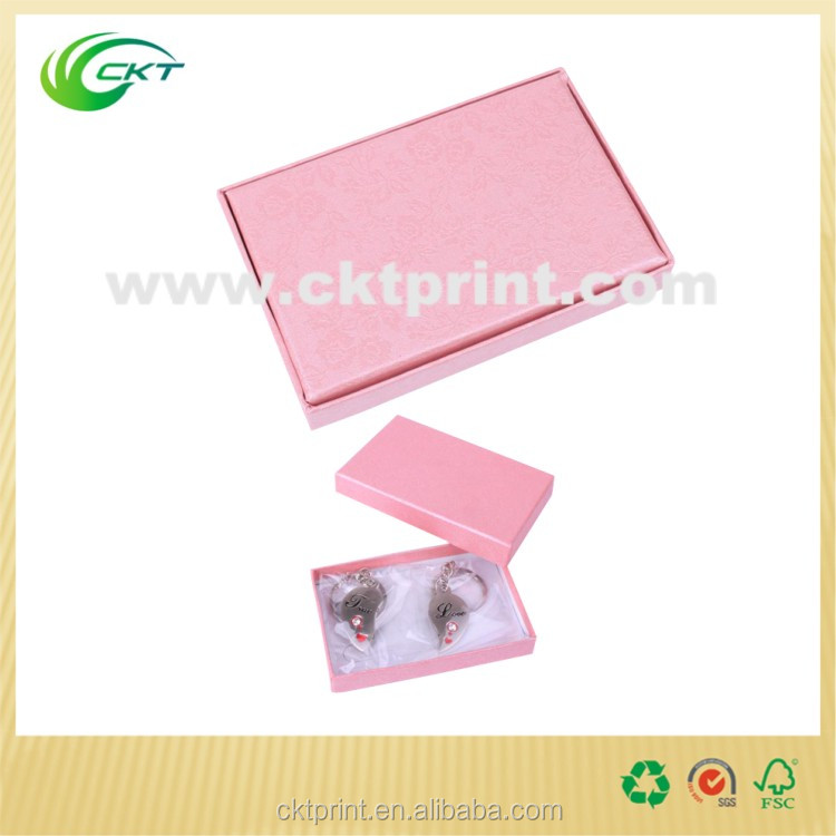 Hot Sale CKT Glossy Pink Gift Box,Jewels Nested Box with Separate Lid