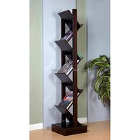 Specialization and originality modern wood magazine book shelf, simple K/D wood magazine rack