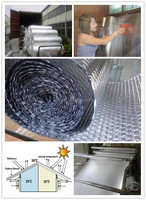 thermal insulation materials aluminum foil with bubble/ heat insulation building material/ aluminum foil roof heat insulation