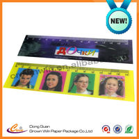 Promotional 3D 14CM plastic ruler ,printing ruler made in China