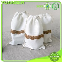 High quality fashionable small gift bag, cotton drawstring shopping bag