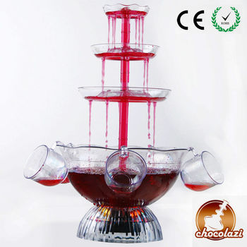 CHOCOLAZI ANT-8010 3 tiers Plastic Home Punch bowl cocktail fountain