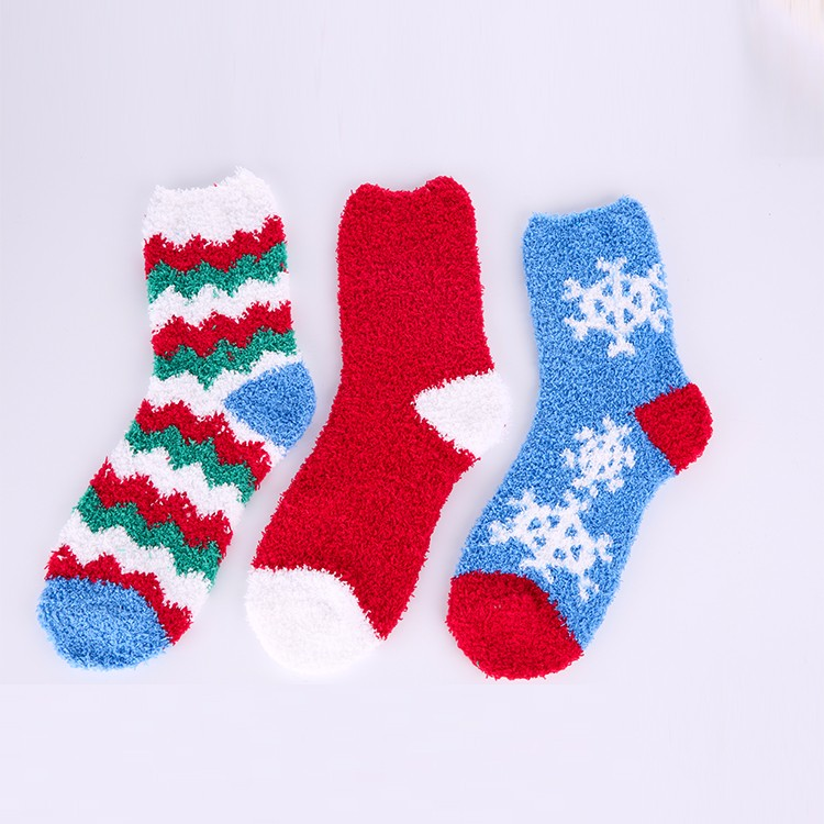 Cute Printing Soft Thermal Lovely Hand Knitted Cotton Socks