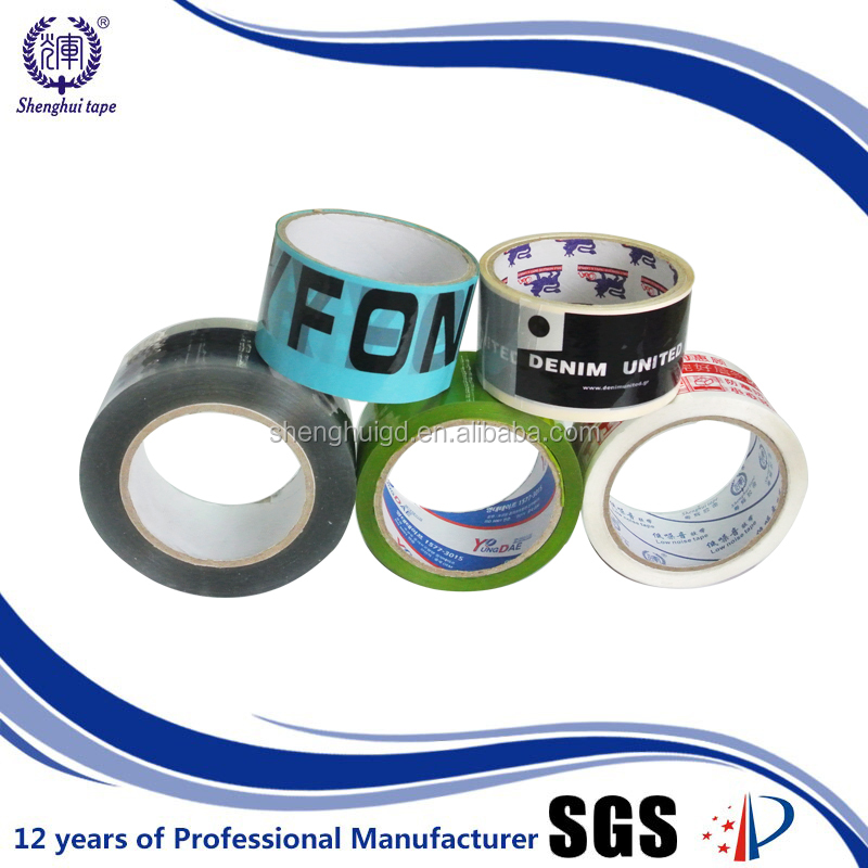 Printed adhesive tape for sealing plastic bag/gift box(packing tape with customized printing )