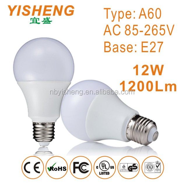 CE/RoHS High Power Globe Lamp LED Bulb 12W E27 Base Lamp 1200Lm LED Lights, 3000K/4000K/6000K Color Temperature