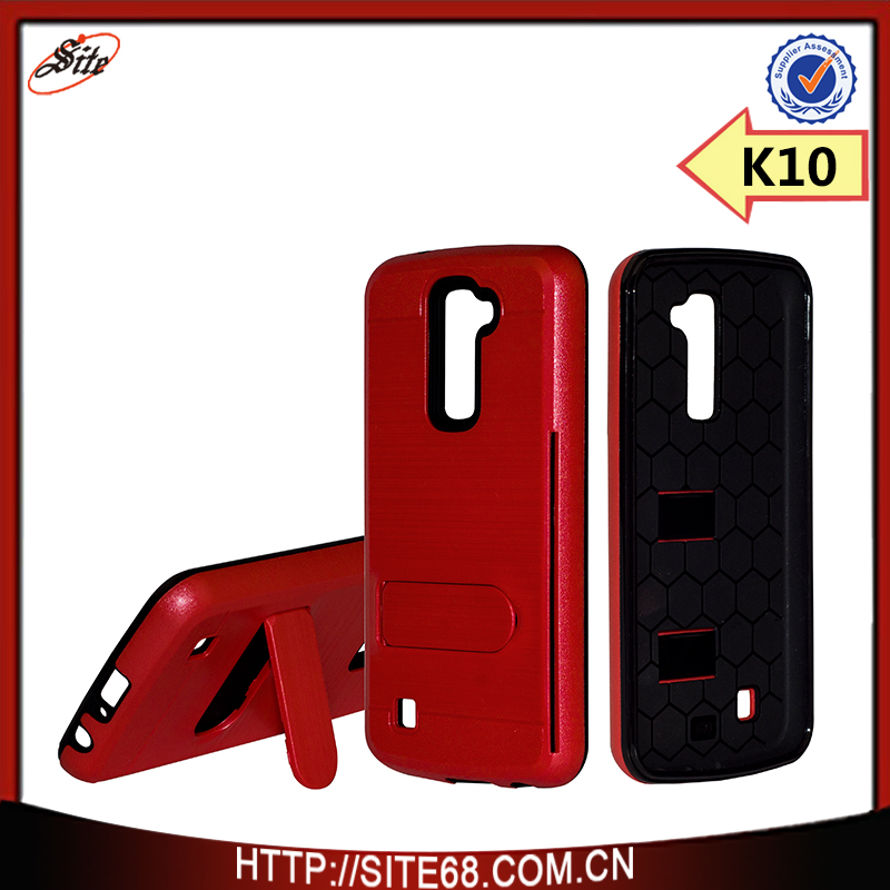 Hot trending <strong>products</strong> pc and tpu brushed surface with card slot for LG <strong>K10</strong>
