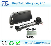 Atlas type down tube battery pack 36v 17ah lithium ion rechargeable battery with charger 36v electric bicycle