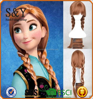 Princess Anna Frozen double ponytail cosplay wig