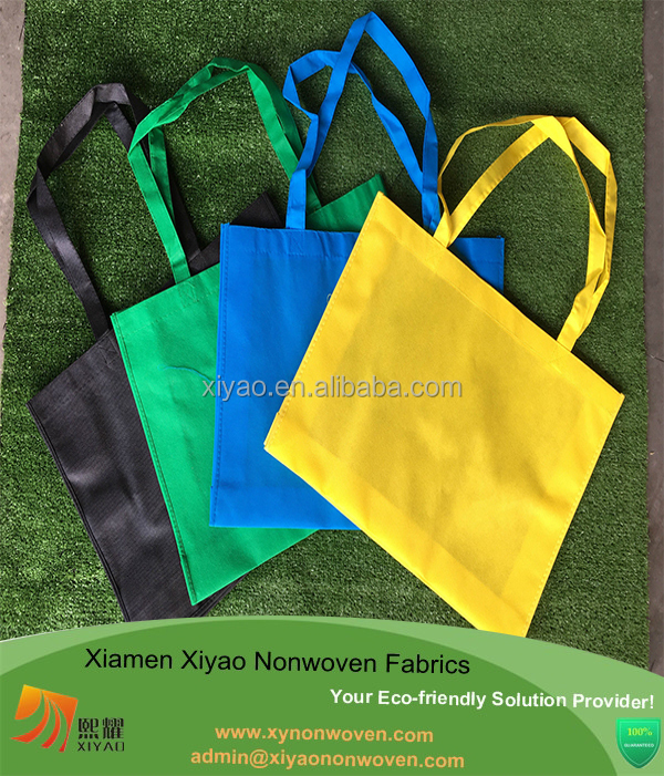 Assorted Colors Big Blank Recycled Shopper Bag Non Woven Gift Tote Bag