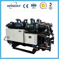 200KW Dual compressor screw industrial water cooled chiller
