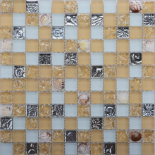 Ganesh crystal clear broken glass mosaic tile