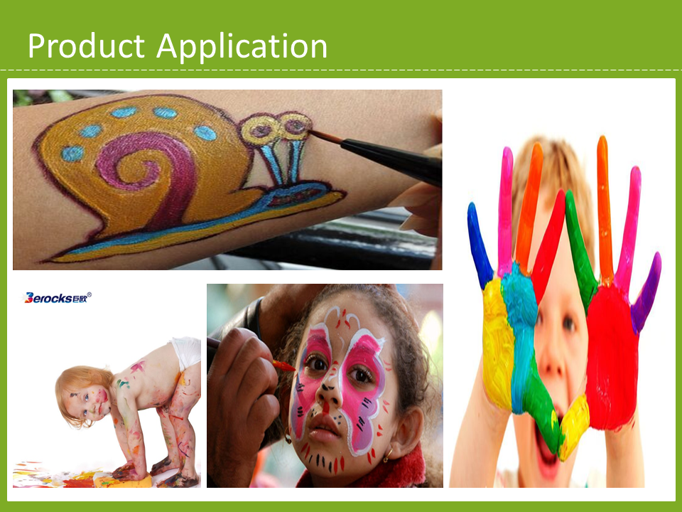 Body Face Paint BEROCKS Good anti-pollution Bright colors Funny paint for kids
