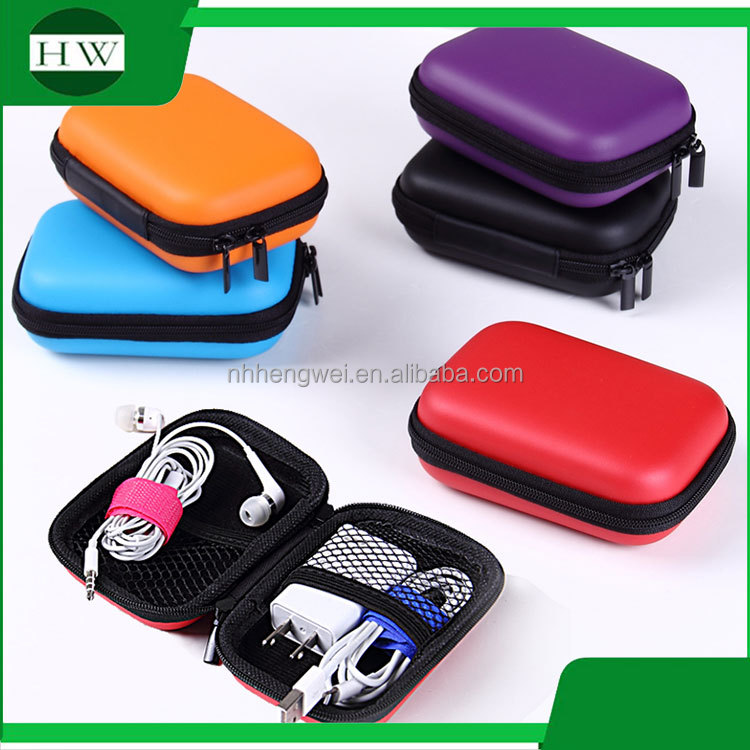 mini portable multipurpose sundries headset earphone headphone storage case bin bag container box with zipper