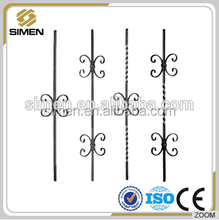 wrought iron scroll baluster