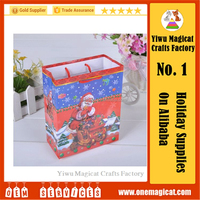 Promotional santa Craft Paper Bag for Christmas Gift Paper Hand Bag