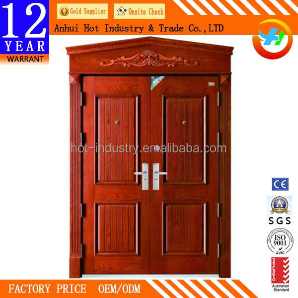High Quality Steel Fire Door Fashion Wooden Door Frames Designs India Factory Direct Security Door Price Stormproof Bullet Proof