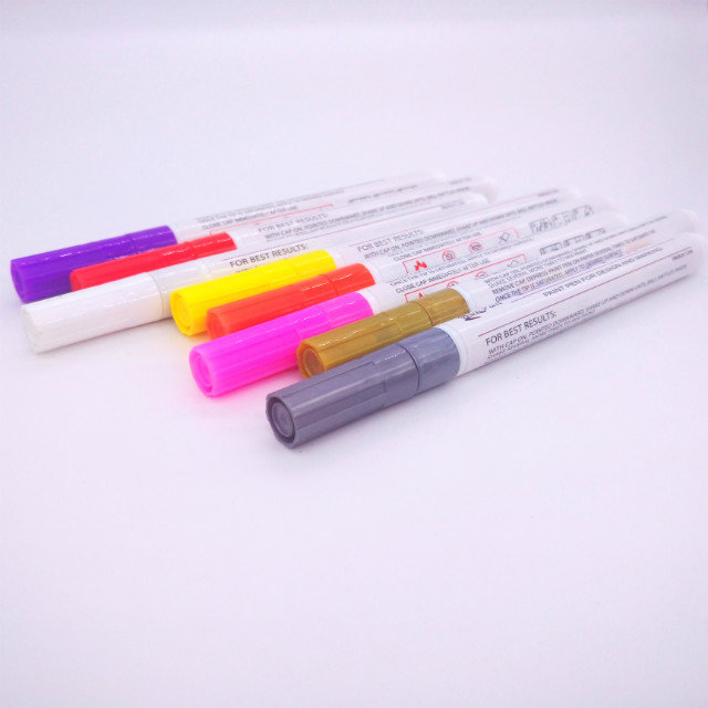 21 pcs Paint pens with fine line nylon tip for Rock Painting - Wood, Glass, Metal and Ceramic Works on Almost All Surfaces