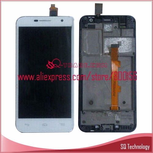 For Alcatel One Touch OT6016 6016 LCD Display+ Touch screen+ frame Assembly white color