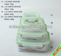 Hot sale Rectangle shape Glass Container