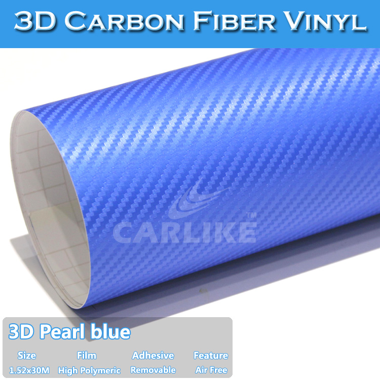 Fast Shipping New Design Air Free Vinyle 3D Carbon Fiber Car Decals