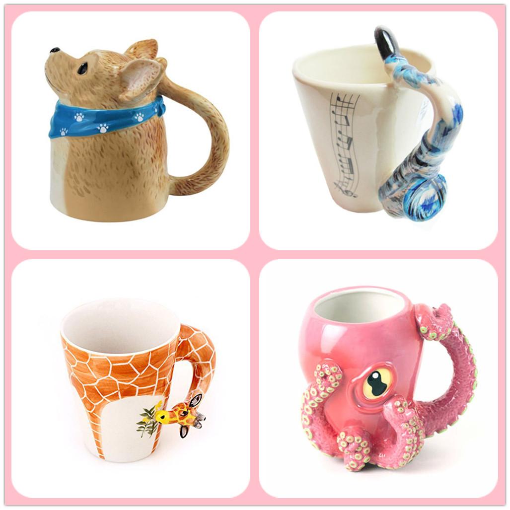 Ceramic animal lover coffee cat shape mug buy coffee mug for Animal shaped mugs