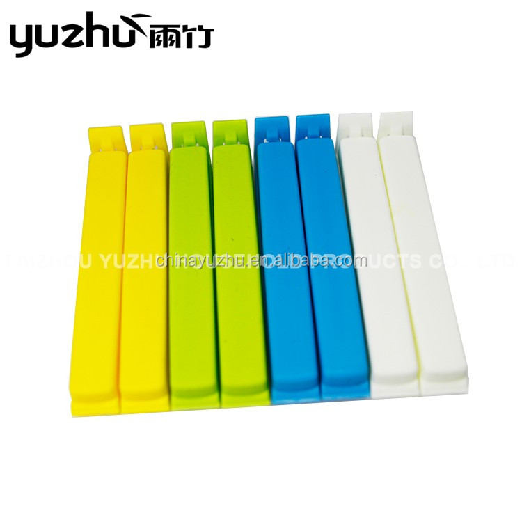 Candy Colored Hot Sale Food Plastic Long Bag Clip