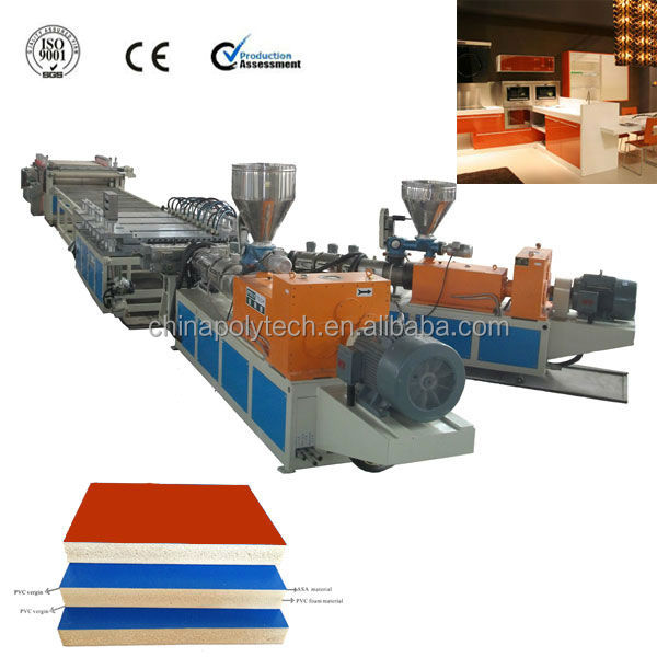 2016 New WPC Foam Board Extrusion Machine,Wood Plastic Composite Extrusion Machine For Building Material