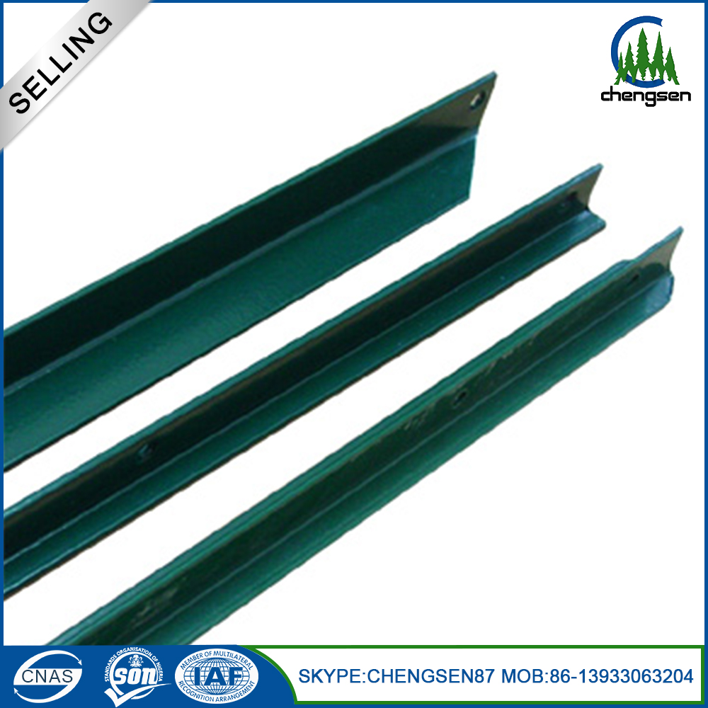 pvc coated iron steel cattle fence post price