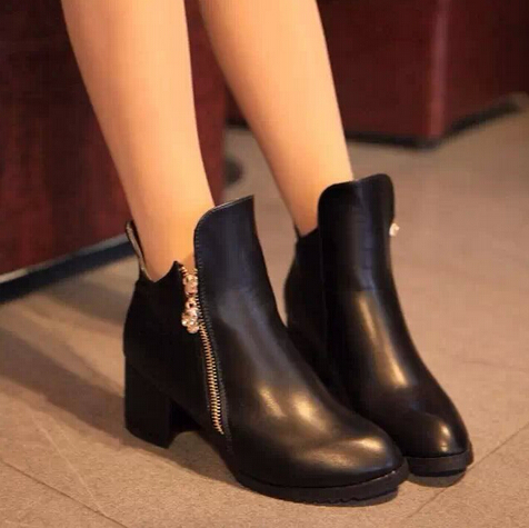 d71711h 2015 new style women boots ladies high heel ankle boots