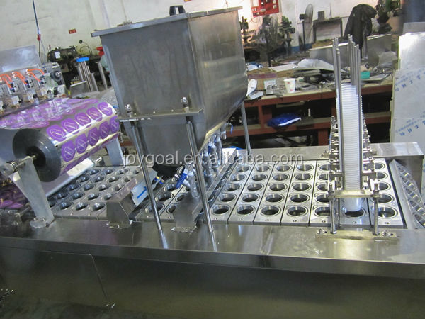 cup filling and sealing machine pack for yoghurt