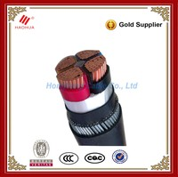 No.1990 - 1kV Low voltage Copper conductor XLPE insulated Steel Wire Armored cable 4 core 5 core 400mm 500mm copper cable