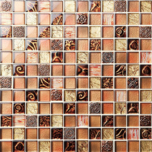 2012 new style natural stone crystal glass mosaic tile for wall and floor